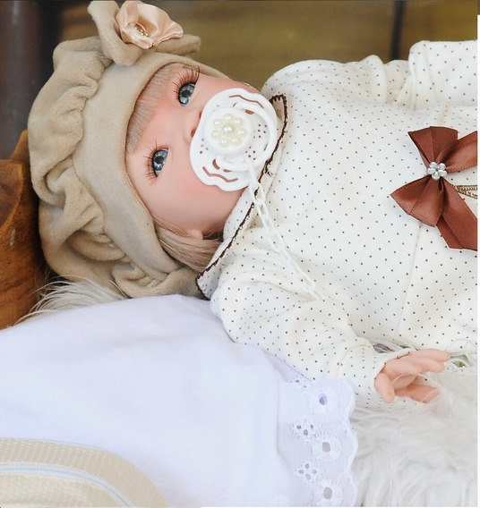 Bebe Bonecas Reborn Menina Barata Linda Com Enxoval