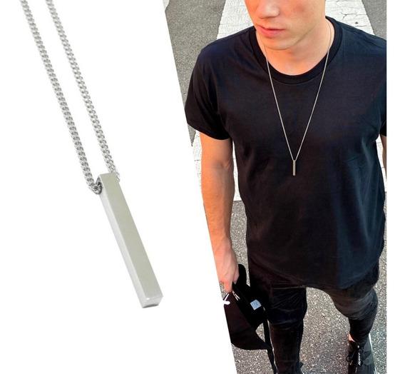 Colar Masculino Aço Inoxidável Cordão Modelo Exclusivo