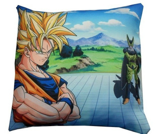 Almohadón De Anime Dragon Ball Z Goku Cell Supersayajin