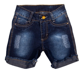 Bermuda Jeans Infantil Meninas Feminina Tamanhos 4-6-8-