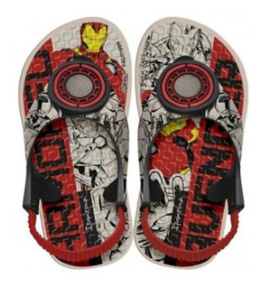 Chinelo Ipanema Kids Avengers Iron Man Bege/preto 010772