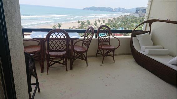 Renta Departamento A Pie De Playa, Magnificas Vistas Al Mar