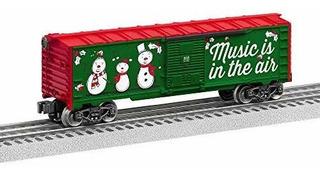 Lionel 684748 Navidad Musica Boxcar Calibre 18 Rojo Blanco V
