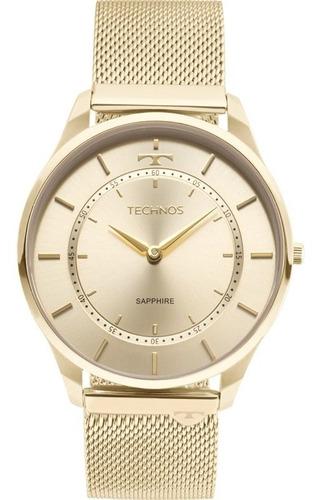 Relógio Technos Feminino Dourado Slim 9t22ak/4x