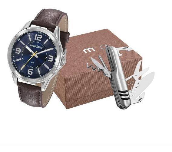 Kit Presente Para Homens Relógio Mondaine Com Canivete