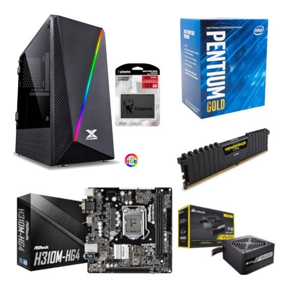 Pc Pyxis Pentium G5400 H310m Hg4 Vg 4gb Vs400 Ssd 120gb
