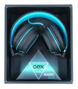 Fone Oex De Ouvido Headset Neon Hs106 Azul