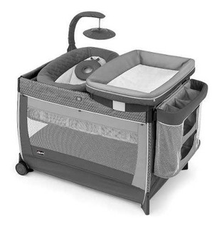 Chicco Corral Lullaby Glow Silhouette, Color Gris