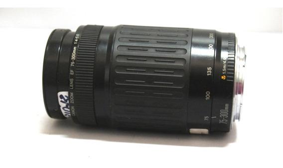 Lente Ef Canon 75-300mm 4-5.6 Sucata Para Retirada De Peças