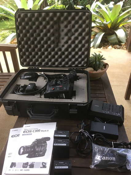 Câmera Cinema Digital Eos C300 Mark Ii + Acessórios E Case