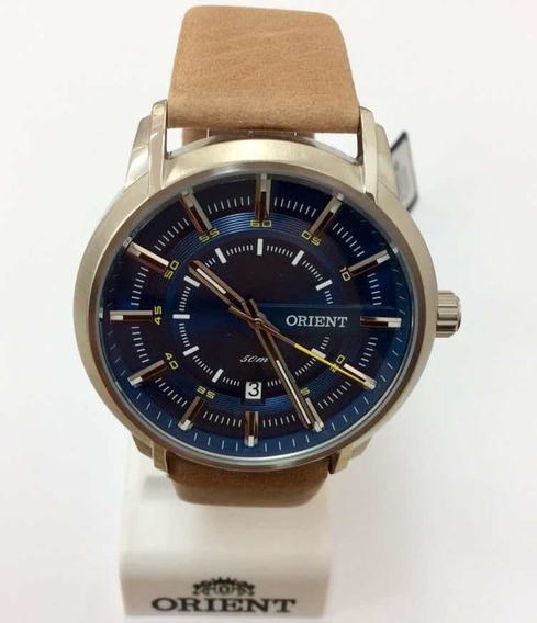 Relógio Orient Analógico Com Pulseira De Couro Mbsc1028