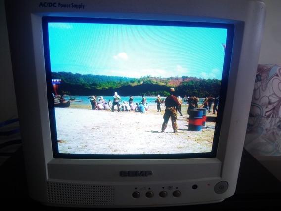 Tv Semp 10 Ac/dc Com Controle Remoto. Ótima
