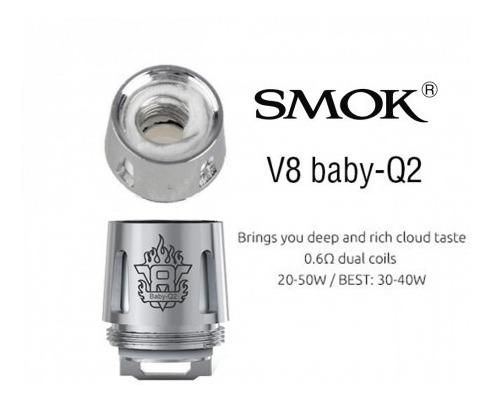 Resistencia Vape V8 Baby Q2 0.6 Repuestos Reemplazo Bobina