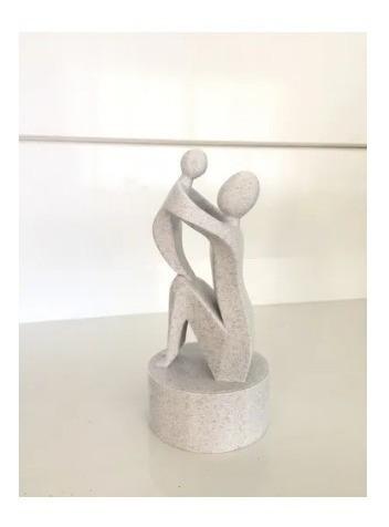 Estátua Mãe E Filho(a)  Presente Dias Das Mães 15cm