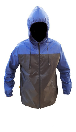 Rompeviento Pampero Impermeable Capucha Hombre Liviano