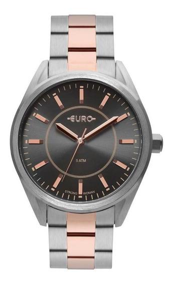 Relógio Euro Feminino Analógico Bicolor Moderno Casual