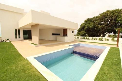 Imagem 1 de 11 de Casa Nova 360 M² 4 Quartos No Condomínio Atlântis Em Garça Torta Em Maceió - Ca0002