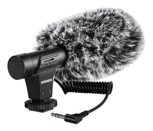 Imagem 1 de 7 de Microfone Direcional P/ Celular E Câmera Mamen - Mic - 05