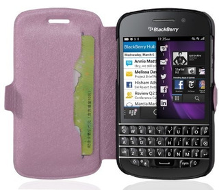 Cadorabo Ultra Slim Book Style Cover Para Blackberry Q10 Con