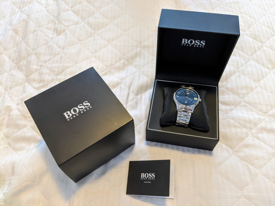 Relógio Hugo Boss Azul - Nunca Usado - Na Caixa Original