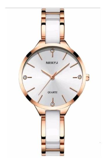 Relógio Feminino Nibosi 2330 Original Luxo Resistente Água