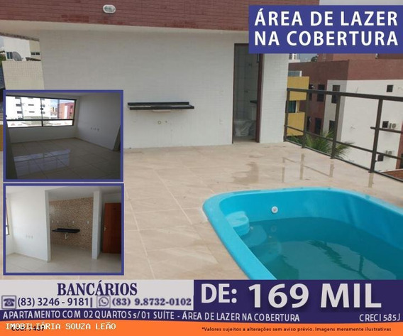 Apartamento Para Venda Em João Pessoa, Bancarios, 2 Dormitórios, 1 Suíte, 1 Banheiro, 1 Vaga - 7487