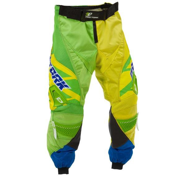 Calça Protork Nações Cor:amarelo Tm:38 Motocross Off Road