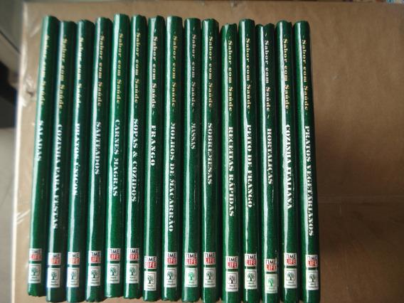Lote Coleção Sabor Com Saúde 15 Volumes Ótimo Estado Receita