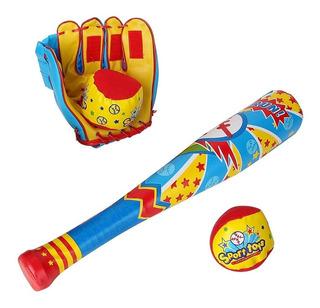 Kit Beisbol Infantil Mi Primer ( Bat Manopla Pelotas)