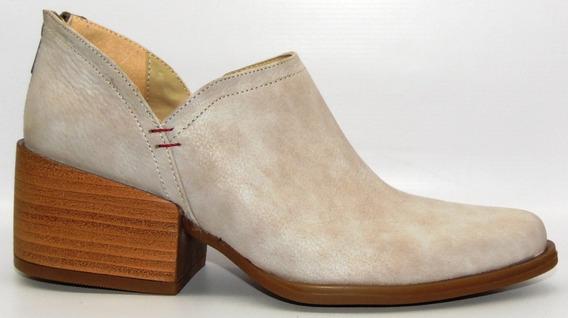 Zapatos Mujer Botinetas Charritos Texanas Art 1193 Cuero !!!