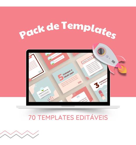 Pack 70 Templates Editáveis Para Instagram
