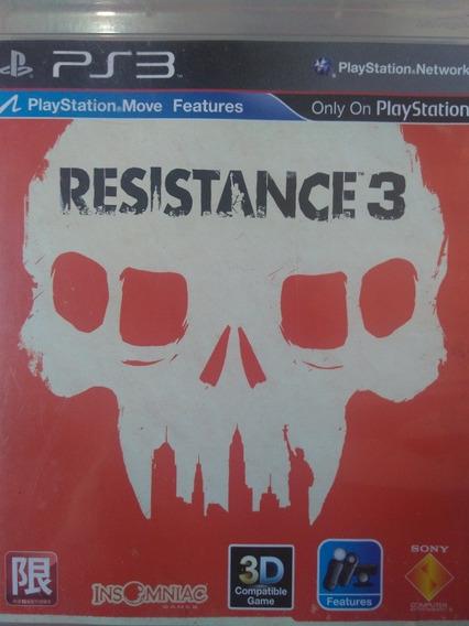 Resistance 3 Ps3 Original , Mídia Física , Leia A Descriçao