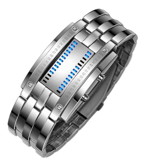 Relógio Moderno Geek Mostrador Led Garantia