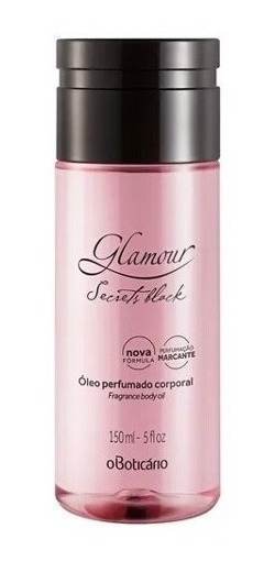 Óleo Corporal Glamour Perfume Boticário Secrets Black 150ml