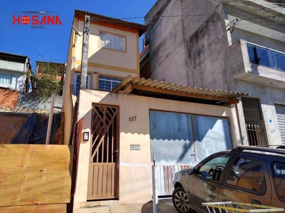 Sobrado Com 2 Dormitórios Para Alugar, 100 M² Por R$ 1.300,00/mês - Serpa - Caieiras/sp - So0968