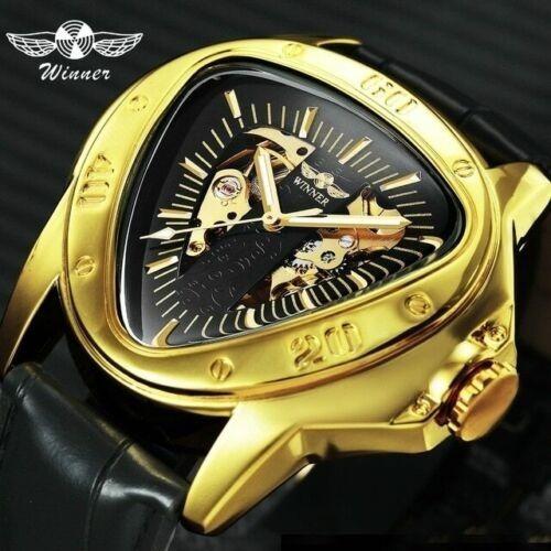 Relógio Automático Esqueleto Triangulo