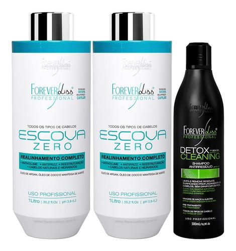 Kit Shampoo Limpeza Profunda Detox 2 Escova Progressiva Zero