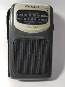 Radio Bolso Aiwa Antigo Modelo No.cr-as11 Funcionando Am Fm