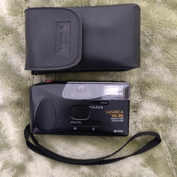Câmera Analógica Máquina Fotográfica Yashica Yk 35