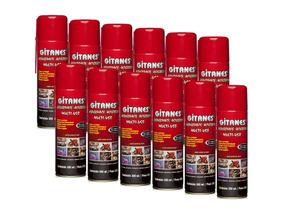 Kit 12 Desengripante Lubrificante Spray 300ml Evita Rangido
