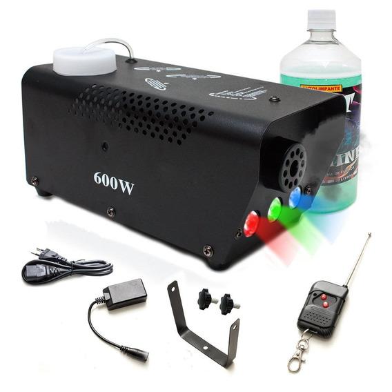 Máquina Fumaça 600w Iluminação Rgb Sem Fio Controle