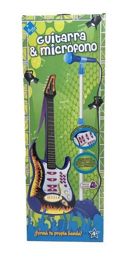 El Duende Azul Guitarra Con Microfono De Pie Art 6317