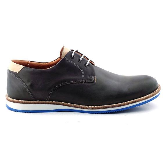 Zapato Cuero Hombre Briganti Moda Goma Sport - Hcac00752