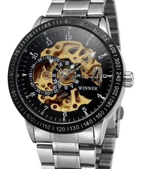 Reloj Grande Winner 3 Mecanico Automatico De Lujo