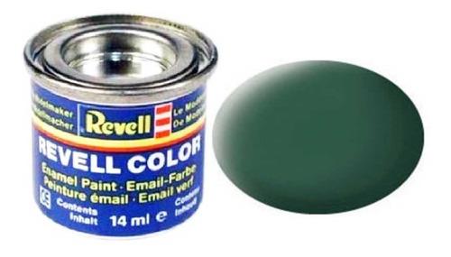 Tinta Enamel Dark Green Fosco 14ml Revell 32139