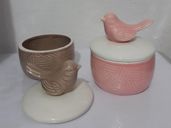Porta Jóias Porcelana Pássaro