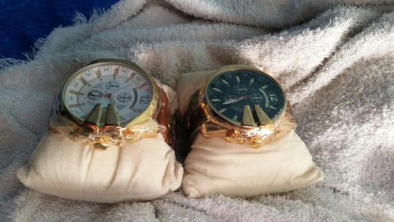 Relógios Banho Dourado A Prova De Água Pulseira De Couro Gen
