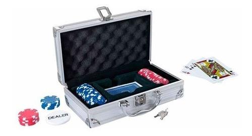 Imagen 1 de 2 de Maletín Poker Llave Mini 50 Fichas 1 Baraja Llaves Practico