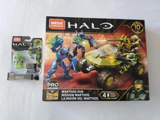 Warthog Run Halo 10 Aniversario Mega Construx Y Jefe Maestro