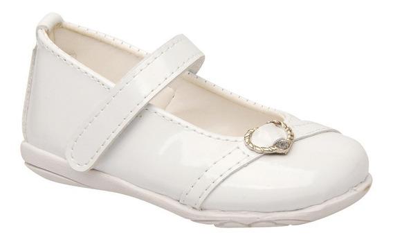 Zapato De Comunion C/abrojo Aplique Corazon - Pbebe809